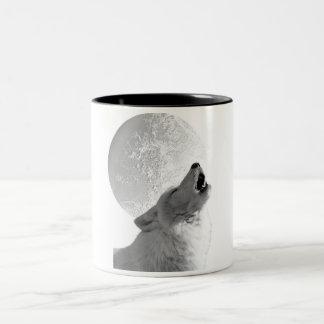 Howling Wolf Two-Tone Coffee Mug