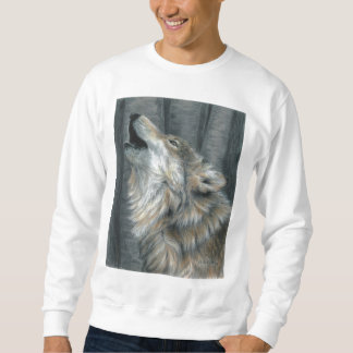 Howling Wolf  Unisex Sweatshirt mens or ladies
