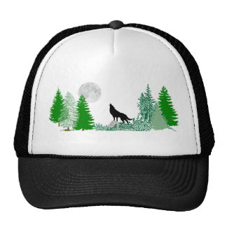 Howling Wolf  Wide View Mesh Hats