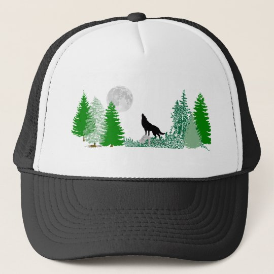 Howling Wolf Wide View Trucker Hat