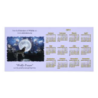 Howling Wolf Wildlife 2011 Pocket Calendars Personalised Photo Card