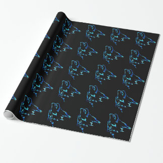 Howling wolf wrapping paper