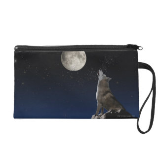 Howling Wolf Wristlet
