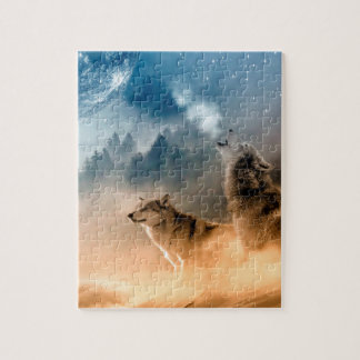 Howling Wolfes Foto Jigsaw Puzzle