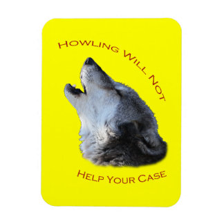 Howling Your Case Magnet