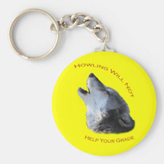 Howling...Your Grade Basic Round Button Key Ring