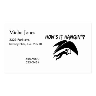 How's It Hangin Hang Glider Pack Of Standard Business Cards