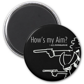 How's my Aim Refrigerator Magnets