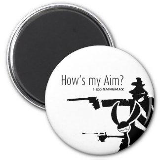 How's my Aim 6 Cm Round Magnet