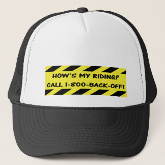 """How's my riding?"" cycling caps"