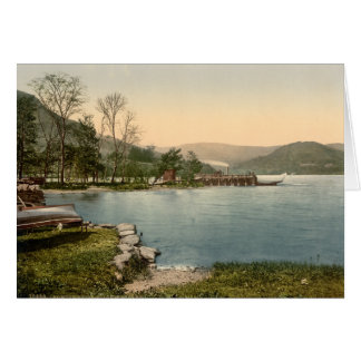 Howtown Pier, Lake District, Cumbria, England Card