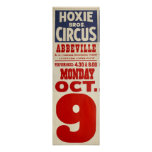 Hoxie Bros. Circus Poster