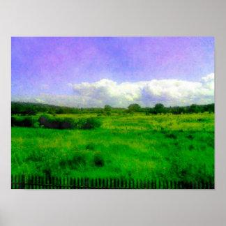 Hoylake Countryside Hoylake - Wirral - July 2014 Posters