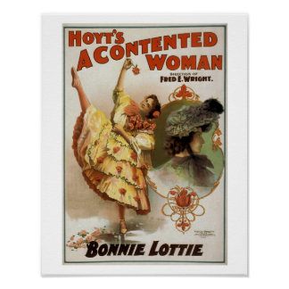 Hoyt's A Contented Woman Vintage Theater Poster