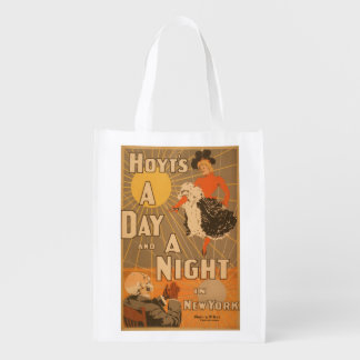 Hoyt's A day and a night in New York City Play Reusable Grocery Bag