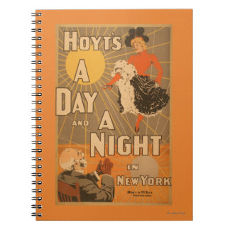 Hoyt's A day and a night in New York City Play Spiral Notebooks