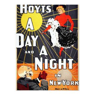 Hoyt's A day and a night in New York 14 Cm X 19 Cm Invitation Card