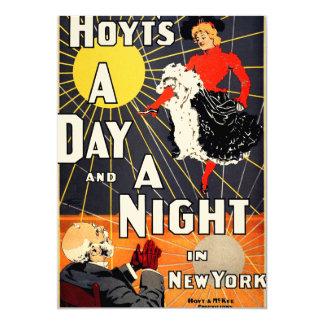Hoyt's A day and a night in New York 13 Cm X 18 Cm Invitation Card