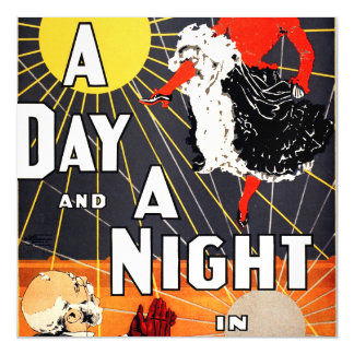 Hoyt's A day and a night in New York Magnetic Invitations