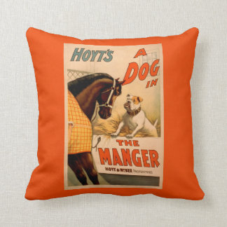 Hoyt's A dog in the Manger Theatre Poster Throw Pillow