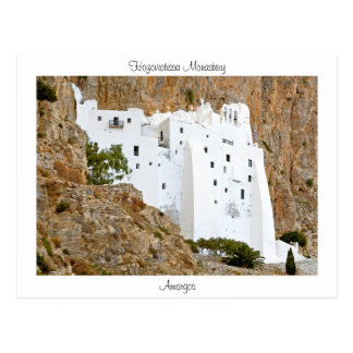 Hozoviotissa Monastery - Amorgos Post Card