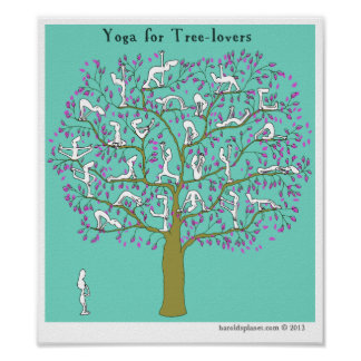 HP2356 Harold s Planet Yoga for tree-lovers Print