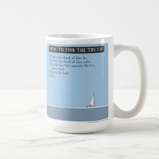 """HP5062 """"harold's planet"""" sailing truth Mugs"""