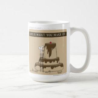 "HP5083 ""Harold's Planet"" ""Life is what you make"" Classic White Coffee Mug"