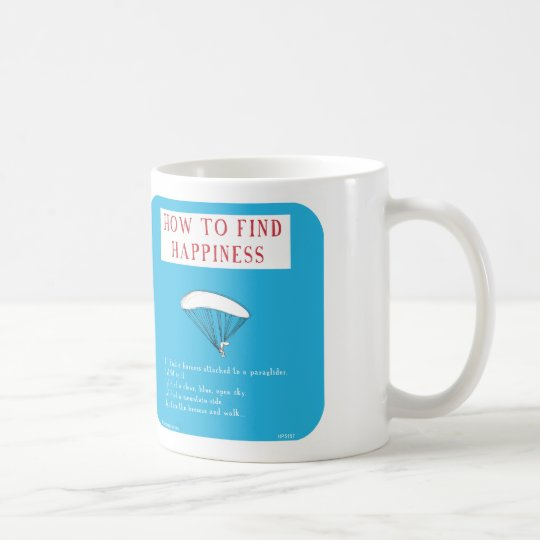 HP5157, paraglide, paragliding, happiness Coffee Mug