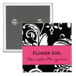 HP&B Flower Girl Square Button