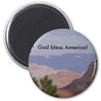 HPIM6736, God bless America! 6 Cm Round Magnet