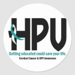 HPV Awareness 2 Round Sticker