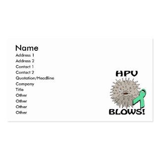 HPV Blows Awareness Design Business Card