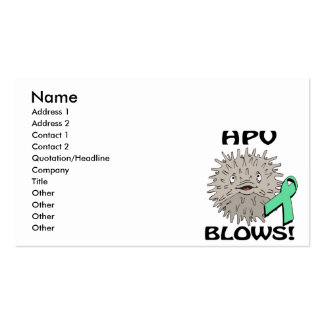 HPV Blows Awareness Design Double-Sided Standard Business Cards (Pack Of 100)