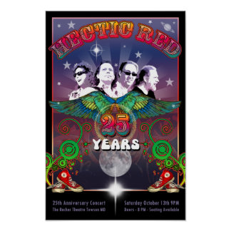 HR 25th Anniversary Poster with Concert Date