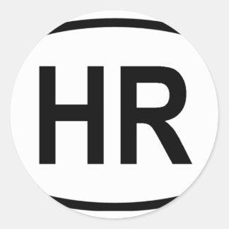"""""""HR"""" Croatia Classic Round Sticker"""