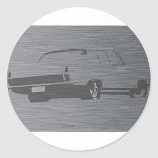 HR Holden Stainless Steel Round Sticker