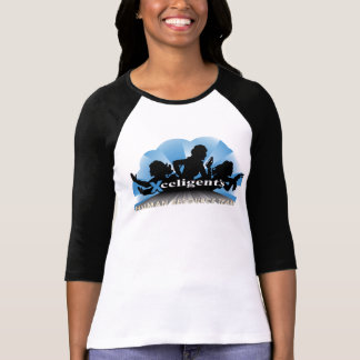 HR Ladies of Action Blue plain Raglan T-Shirt