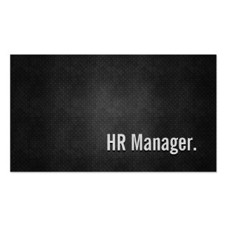 HR Manager Cool Black Metal Simplicity Pack Of Standard Business Cards