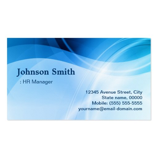Create Your Own Hr Manager Business Cards