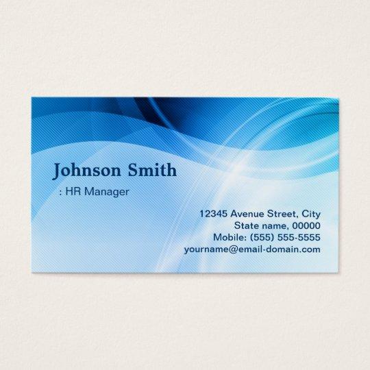 HR Manager - Modern Blue Creative Business Card