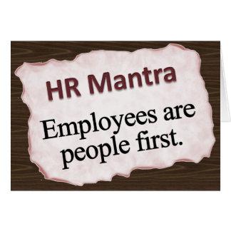 HR Mantra  Note Card