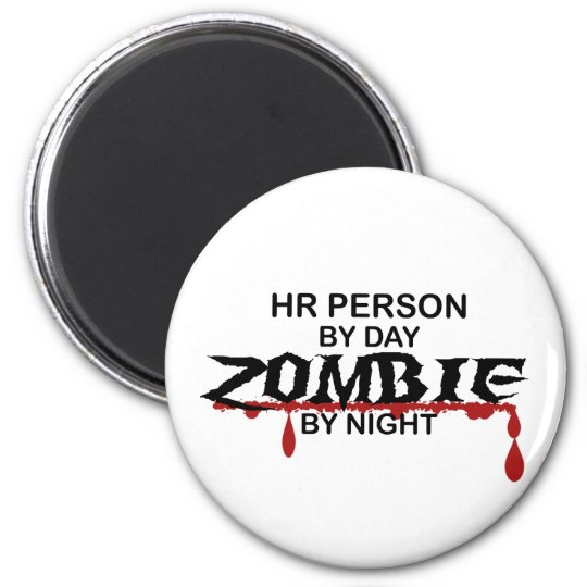 HR Person Zombie Magnet