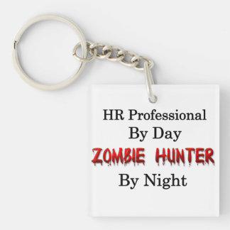 HR Professional/Zombie Hunter Square Acrylic Key Chains