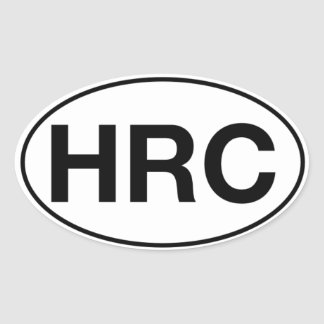 HRC - Oval Stickers, Matte Oval Sticker