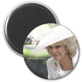 HRH Duchess of Cornwall 6 Cm Round Magnet