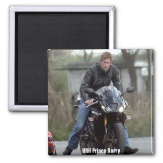 HRH Prince Harry motorbike Square Magnet