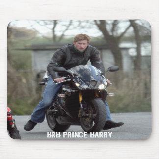 HRH Prince Harry motorbike Mousemat