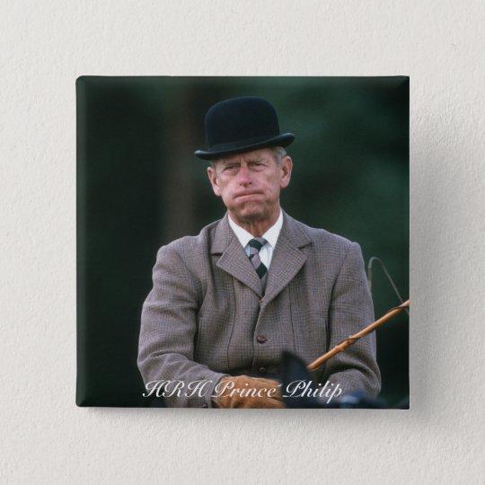 HRH Prince Philip Windsor 1980 15 Cm Square Badge