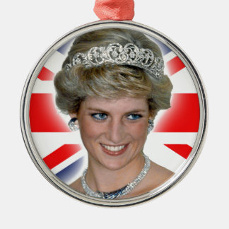 HRH Princess Diana Union Jack Christmas Ornament